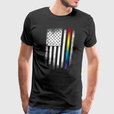flag gay american distressed flag us pride rainbow - Men's Premium T-Shirt