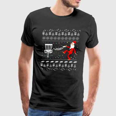 Merry Disc Golf Ugly Christmas Sweater - Men's Premium T-Shirt