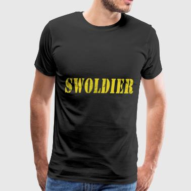 Swoldier Swolemate Fitness Gym WOD Health - Men's Premium T-Shirt