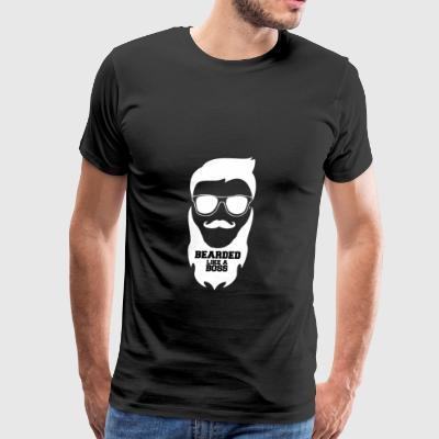 bearded like a boss - Men's Premium T-Shirt