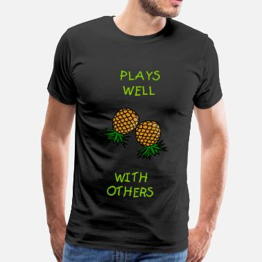 Upside Swinger pineapples - Men's Premium T-Shirt
