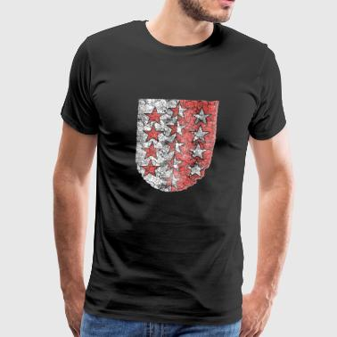 Wallis Vintage Flag - Men's Premium T-Shirt