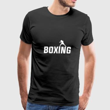 Boxing font with box animation gift martial arts - Men's Premium T-Shirt
