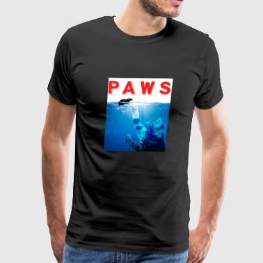 Paws Funny Cute Cat Reaching Mouse Kitten Graphic - Men's Premium T-Shirt