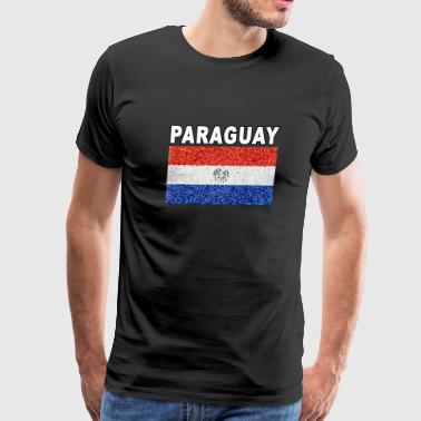 Paraguay flag stained glass effect unique design - Men's Premium T-Shirt