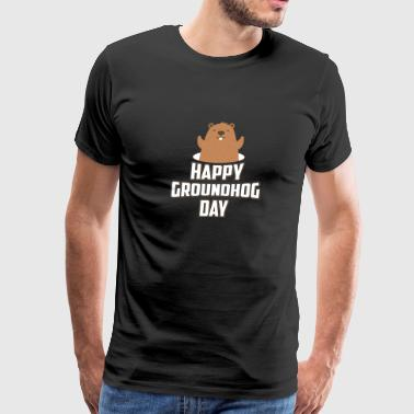 Happy Groundhog Day 2018 Woodchuck Since 1886 Cool - Men's Premium T-Shirt