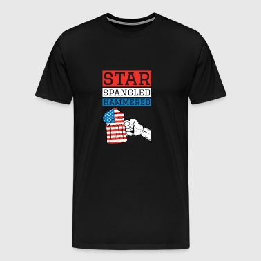 Star Spangled Hammered 4th Of July Drinking Shirt - Men's Premium T-Shirt