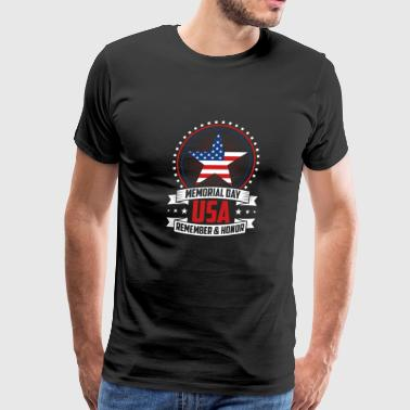 Memorial Day USA Flag - Men's Premium T-Shirt