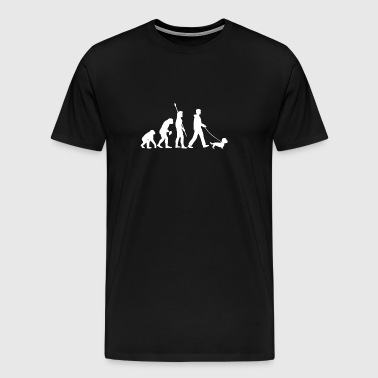 Dandie Dinmont Terrier Dog Owner Evolution Gift - Men's Premium T-Shirt