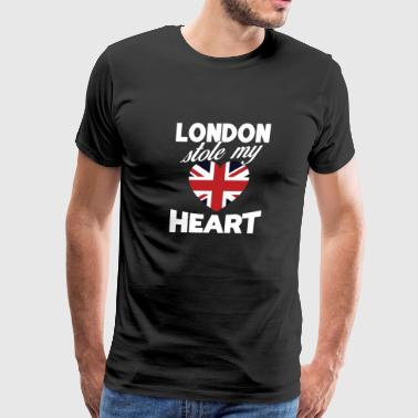 London Stole My Heart United Kingdom National Flag - Men's Premium T-Shirt