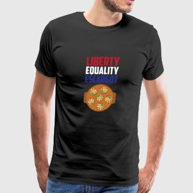 Liberty, Equality Escargot Funny France French - Men's Premium T-Shirt