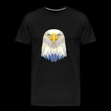 Bald Brave USA Eagle Design - Men's Premium T-Shirt