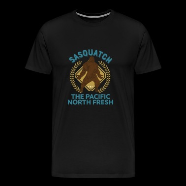 Sasquatch Pacific North Fresh PNW Bigfoot T-Shirt - Men's Premium T-Shirt
