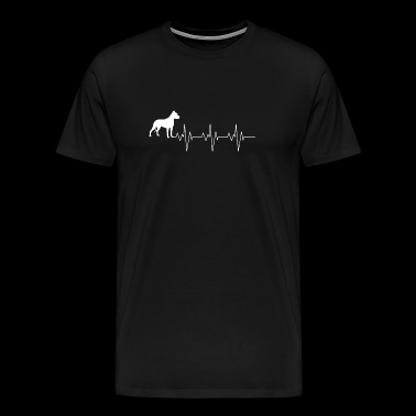 Dogo Argentino Dog Heart Beat Gift Shirt - Men's Premium T-Shirt