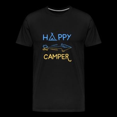 Happy Camper Camping Tent Bonfire Nature gift - Men's Premium T-Shirt