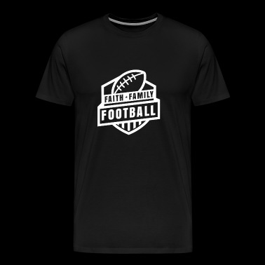 Faith Family Football TShirt - Men's Premium T-Shirt