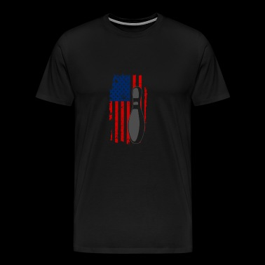 Bowling USA American Flag Design for Bowlers - Men's Premium T-Shirt