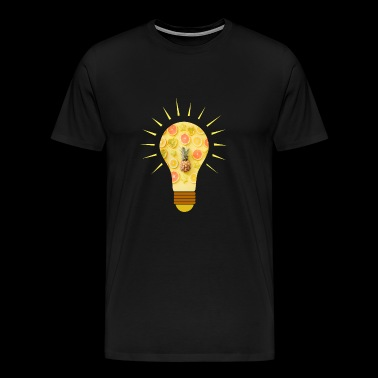 fruits idea bulb idea healthy gift idea - Men's Premium T-Shirt
