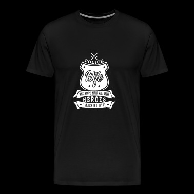 Wife of a Cop married to a Policeman - Men's Premium T-Shirt