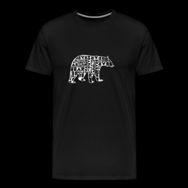 Bear artwork for animal rights activists - Men's Premium T-Shirt