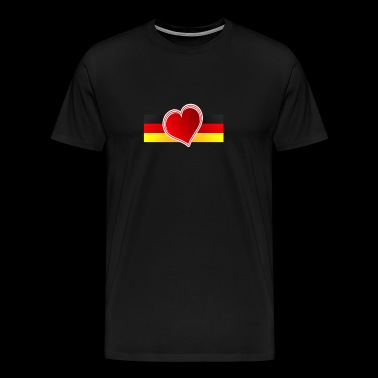 Germany Heart - Men's Premium T-Shirt