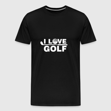 I Love Golf - Men's Premium T-Shirt