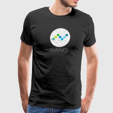 NANO (XRB) Distressed Tshirt (Formerly RaiBlocks) - Men's Premium T-Shirt