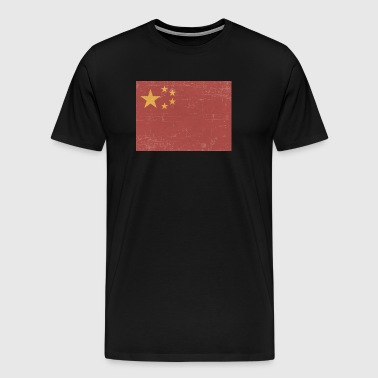 Scuffed Chinese Flag Gift Idea - Men's Premium T-Shirt