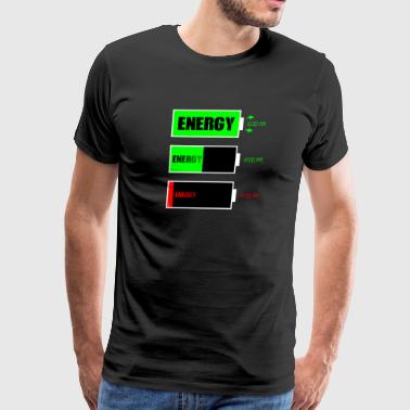 Energy batery levels - Men's Premium T-Shirt