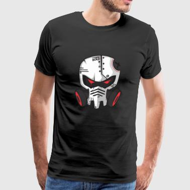 gas mask skeleton - Men's Premium T-Shirt