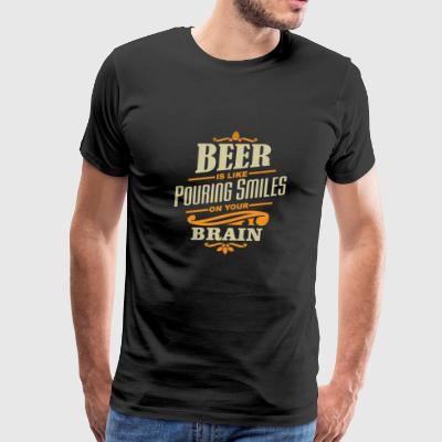 beer is like smiles - Men's Premium T-Shirt