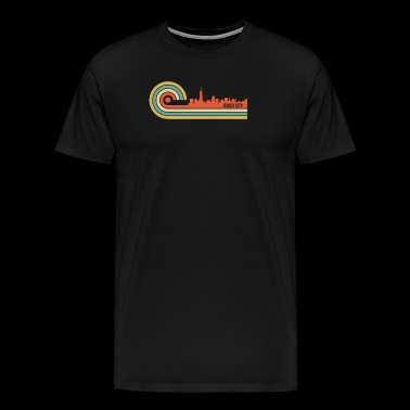 Retro Style Jersey City New Jersey Skyline - Men's Premium T-Shirt