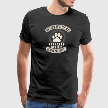 World's Best Irish Setter Grandpa - Men's Premium T-Shirt