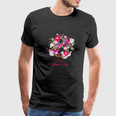 happy women day 8 march - Men's Premium T-Shirt