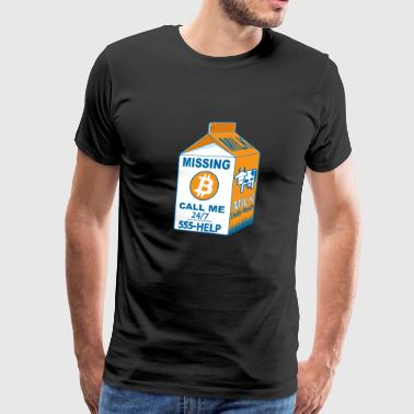 Missing Bitcoin - Men's Premium T-Shirt