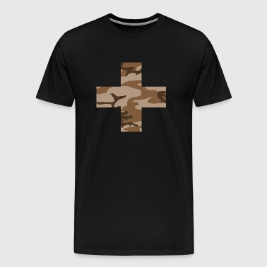 Swiss Cross Military Brown - Men's Premium T-Shirt