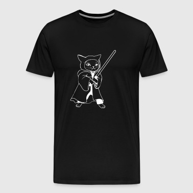 Laser sword cat - Men's Premium T-Shirt