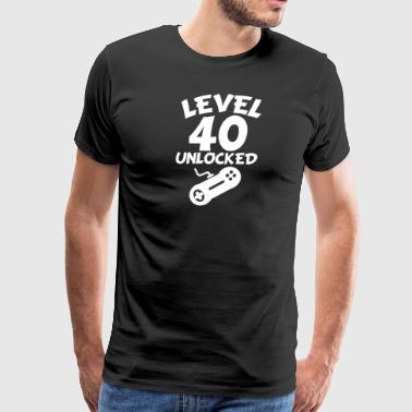 Level 40 Unlocked Video Games 40th Birthday - Men's Premium T-Shirt