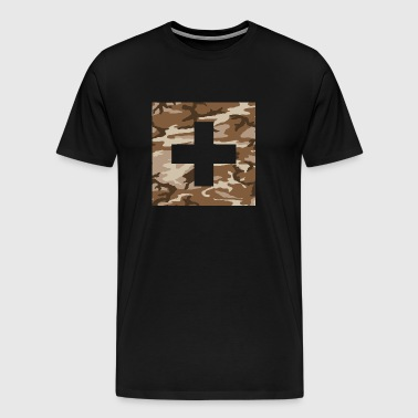 Swiss Military Flag - Men's Premium T-Shirt