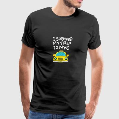 Travel/city life I survived my trip to NYC gift - Men's Premium T-Shirt