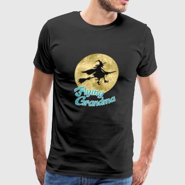 Flying grandma - Men's Premium T-Shirt