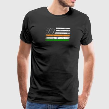 Indian American Flag - USA India Shirt - Men's Premium T-Shirt