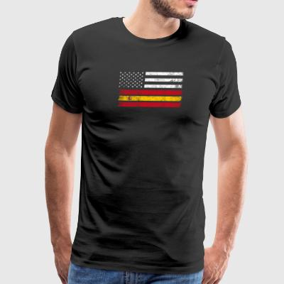 Spaniard American Flag - USA Spain Shirt - Men's Premium T-Shirt