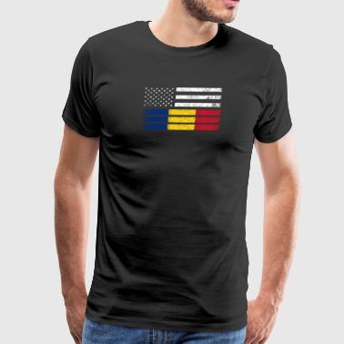 Romanian American Flag - USA Romania Shirt - Men's Premium T-Shirt