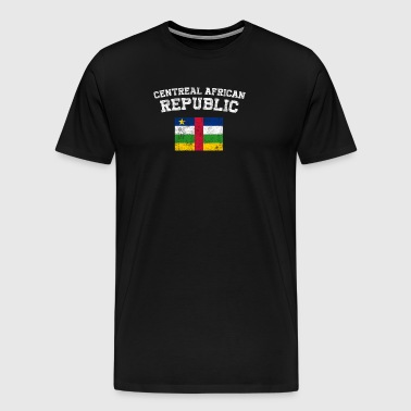 Central African Flag Shirt - Vintage Central Afric - Men's Premium T-Shirt