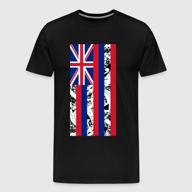 Hawaiian State Flag - Vertical - Men's Premium T-Shirt