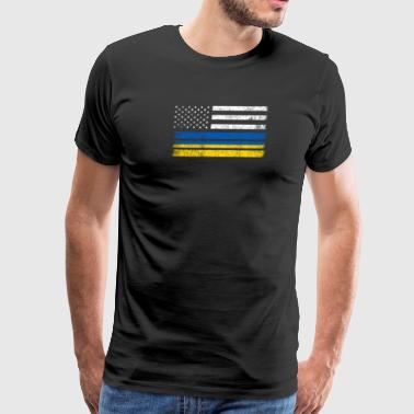 Ukrainian American Flag - USA Ukraine Shirt - Men's Premium T-Shirt