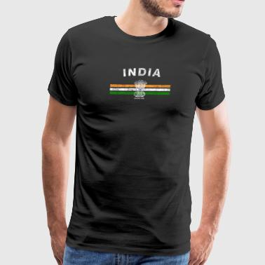 Indian Flag Shirt - Indian Emblem & India Flag Shi - Men's Premium T-Shirt