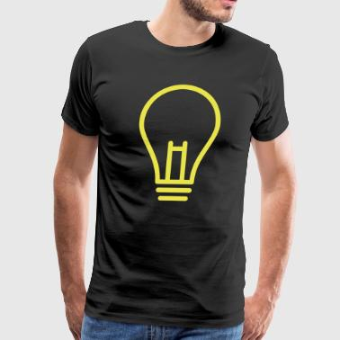 Light bulb gift present idea - Men's Premium T-Shirt
