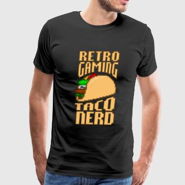 8-Bit Pixelart Retro Gaming Taco Nerd Fast Food - Men's Premium T-Shirt